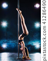Pole dancing woman 41286490