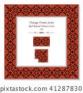 Vintage square 3D frame retro oriental pattern 41287830