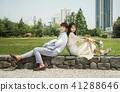 야외, 커플, 결혼 41288646