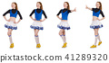 Cheerleader isolated on the white background 41289320
