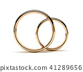 Golden rings front view 41289656