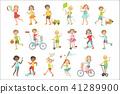 Kids Playing Outside Set 41289900