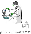 Female chemist working in laboratory vector 41292333