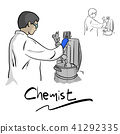 Female chemist working with equipment  41292335