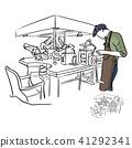 jeweler working in jewel shop vector illustration  41292341