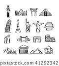 icon set of famous landmarks around the world 41292342