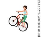 bike, bicycle, woman 41292443
