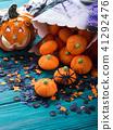 Halloween trick or treat still life 41292476