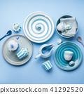 Blue pastel ceramic tableware crockery 41292520