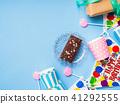 Happy Birthday party items flat lay 41292555