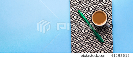 Planning agenda with cup of coffee 41292615
