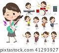 Pink jacket Middle women_pop music 41293927