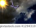 พื้นหลัง,เครื่องบิน,ท้องฟ้า 41294310