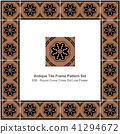 Antique ceramic retro tile frame pattern set 41294672