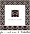 Antique ceramic retro tile frame pattern set 41294676
