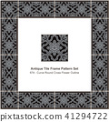 Antique ceramic retro tile frame pattern set 41294722