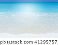 Panorama of beach and sea view 41295757