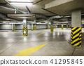 Underground car parking at modern house 41295845