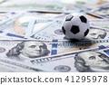 Soccer ball on dollar banknotes 41295978
