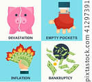bankruptcy, money, currency 41297391