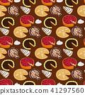 Homemade organic pie dessert vector illustration fresh golden rustic gourmet bakery seamless pattern 41297560
