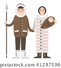 Alaska people couple flat style vector america travel national characters geographic outdoor 41297596