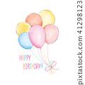 balloon, birthday, text 41298123