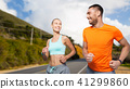 couple,running,woman 41299860