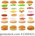 burger, vector, hamburger 41300421