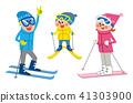滑雪 家庭 家族 41303900