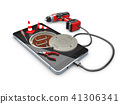 Phone repair and service concept, 3d Illustration 41306341