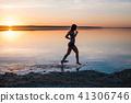 beach, runner, woman 41306746