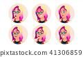 glasses, women, face 41306859