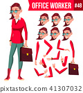 work, woman, cartoon 41307032