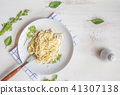 Spaghetti pasta with bolognese sauce and parmesan  41307138