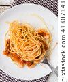 Spaghetti pasta with bolognese sauce and parmesan  41307141