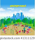 Isometric Park Playground  41311129
