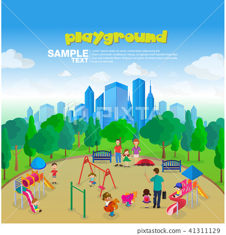 Isometric Park Playground  41311129