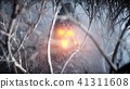 stone screaming head in fog night forest. Fear and horror. Mistyc concept of halloween. 3d rendering 41311608