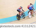 Indoor track cycling 41312421