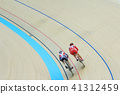 Indoor track cycling 41312459