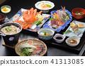 온천 숙소의 식사 일식의 집합 41313085
