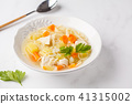 Chicken soup with noodles and vegetables 41315002