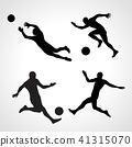 soccer, silhouette, player 41315070