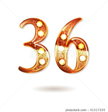 36 years anniversary celebration design 41317205