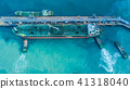Aerial view tanker petroleum and gasoline storage. 41318040
