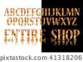 font vector lamp 41318206