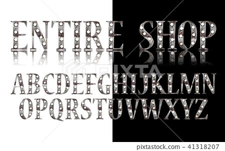 Silver 3D Broadway Alphabet. 41318207