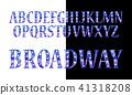 font, letter, vector 41318208
