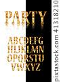 font, letter, vector 41318210
